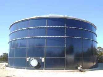 Cylindrical Steel Tanks  Epoxy Coated And  Glass Fused